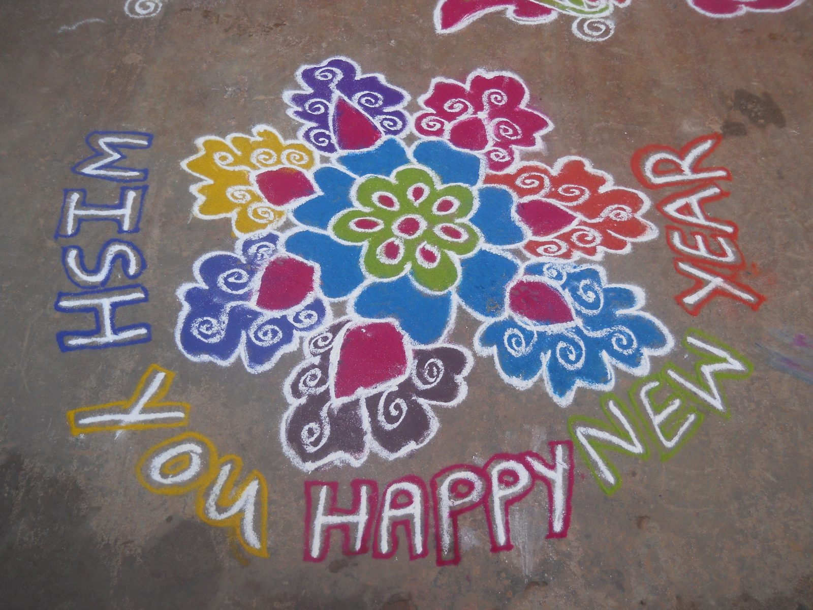 Happy New Year 2020 Images With Rangoli