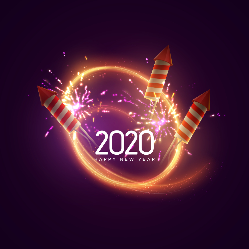 Happy New Year 2020 Wallpapers Download, Full HD, 3D ...