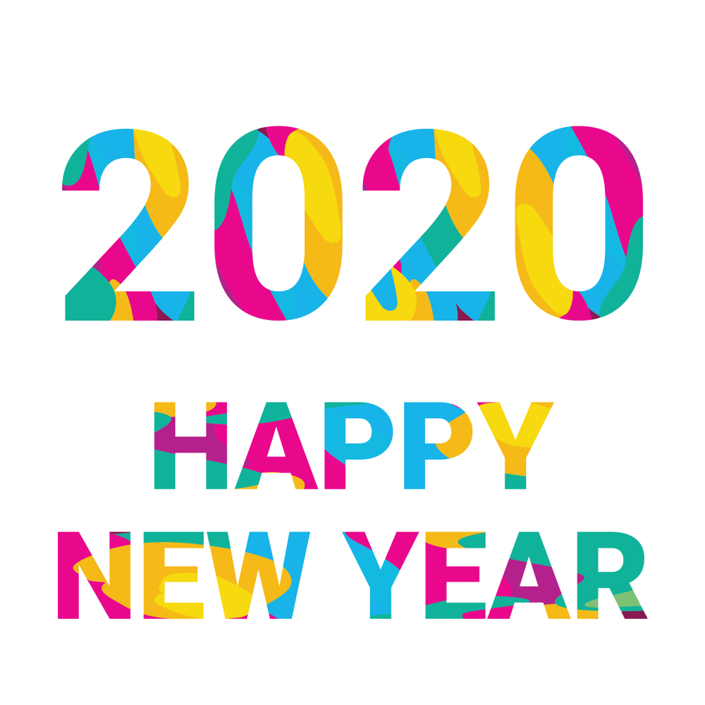 happy new year 2020 with photo